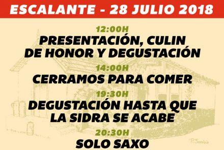 XIX Día de la Sidra Escalante 2018